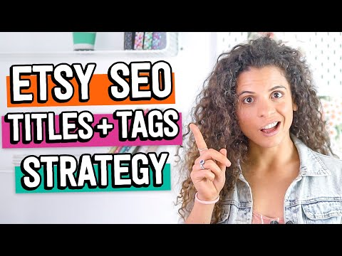 How to do TITLES and TAGS for Etsy Search (+ 5 mistakes to avoid!) | Etsy SEO Keyword Strategy 2020
