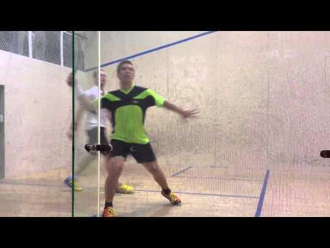 Grégory Gaultier - 1er Joueur Mondial 2014 Squash en match de démonstration au Jeu de Paume à Paris