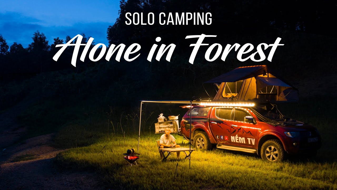 [3rd night] ASMR SOLO CAMPING in Vietnam - Alone in Forest