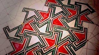 How To Draw Geometric Art - Diamond Wedge Pattern - Sacred Geometry Tutorial