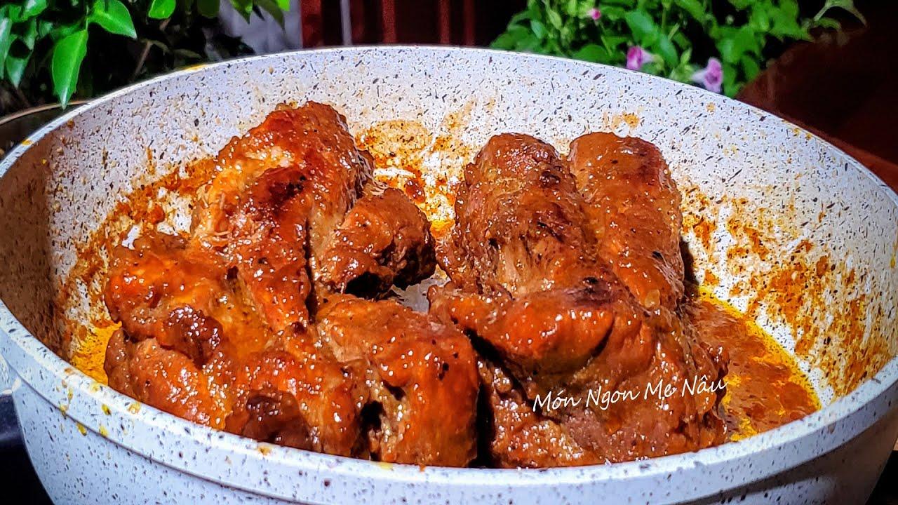 Cách Khìa Thịt Heo - Món Thịt Khìa Nước Dừa Màu Đẹp Thịt Mềm Không Bị Khô