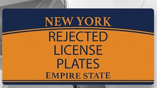 90 of the Weirdest License Plates Rejected by the New York DMV | NBC 4 I-Team