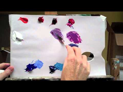 Basic acrylic colour mixing: how to mix a perfect purple| Part 2 of 2