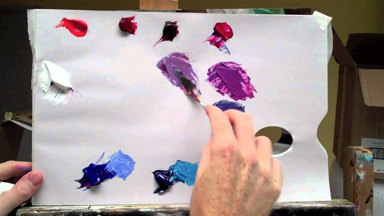 Basic Acrylic Colour Mixing How To Mix A Perfect Purple Part 2 Of You