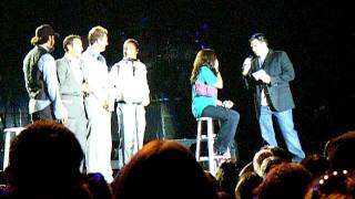 Marriage Proposal at Backstreet Boys concert