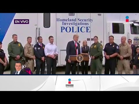 Trump fue a supervisar el muro entre México-Estados Unidos | Noticias con Yuriria Sierra
