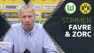 """""""Jedes Spiel war eng""""   Stimmen von Lucien Favre & Michael Zorc   VfL Wolfsburg - Borussia Dortmund"""