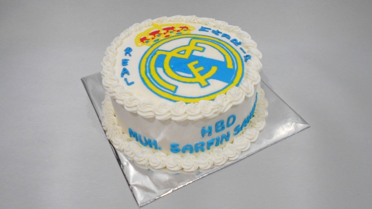 Cake Images Real : Real Madrid Birthday Cake Easy - YouTube