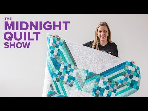 """Modern X"" Patchwork Quilt (Math Demystified!) 
