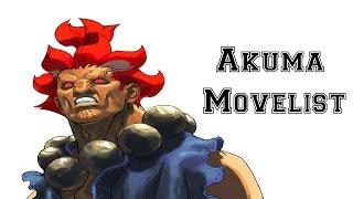 Street Fighter III: 3rd Strike - Akuma Move List