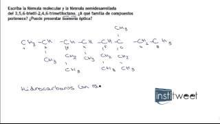 Problemas resueltos química orgánica bachillerato