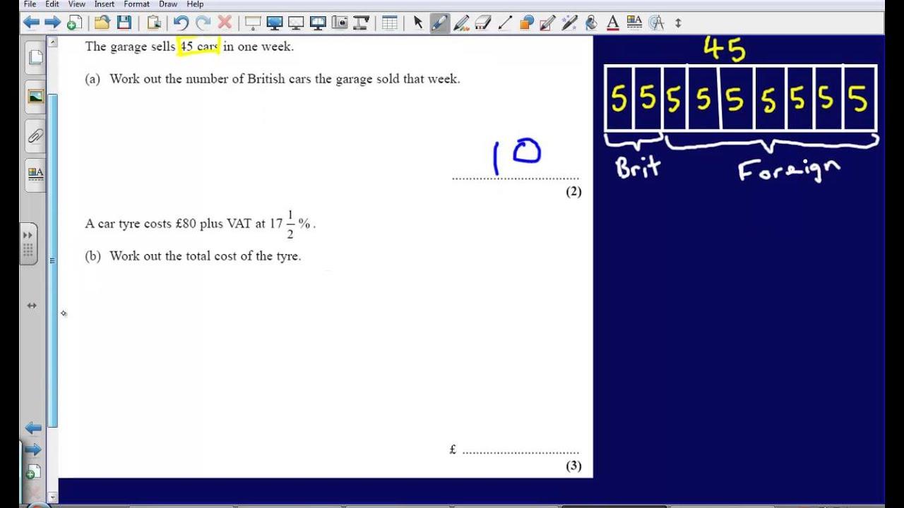 Ratio and Percentages - Question 10 2008 Edexcel GCSE Maths ...