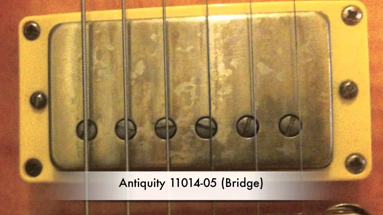Seymour Duncan Antiquities & Gibson Burstbucker Pros humbuckers ...