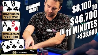 $8,100 to $46,700 in 11 Minutes!!! ♠ Live at the Bike!