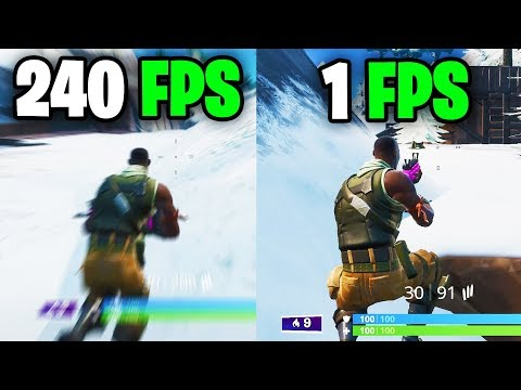 This is what playing in 240 FPS feels like - Fortnite Frame rate Comparison 60 vs 144 vs 240 FPS/hz