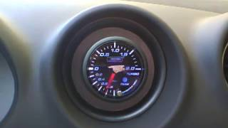 PROSPORT turbo boost gauge welcome & peak