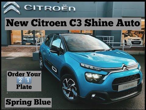 New citroen c3 shine auto in spring blue mp3