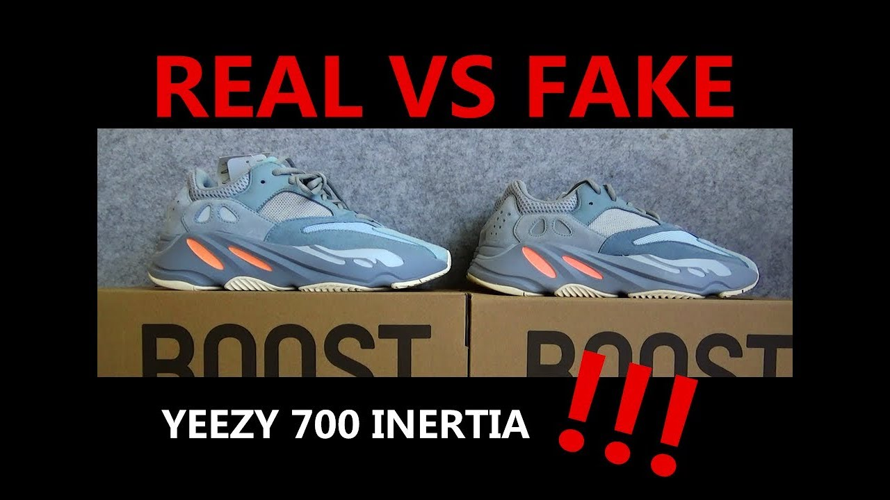REAL VS FAKE ADIDAS YEEZY BOOST 700 INERTIA COMPARISON