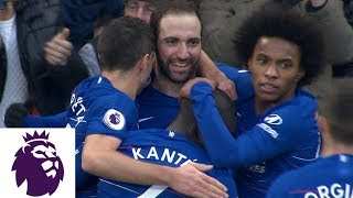 Gonzalo Higuaín first goal since joining Chelsea v. Huddersfield | Premier League | NBC Sports