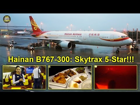 Hainan Airlines B767 Skytrax 5-Star Business Class Beijing - Prague [AirClips full flight series]