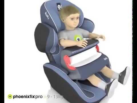 KIDDY Phoenixfix 3 Детско столче за кола Черно #IUeRdiA7v-I