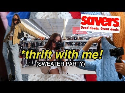 Come Thrifting With Me At SAVERS + Winter 2019 Thrift Store Try On HAUL