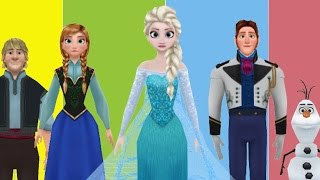 FROZEN ELSA FINGER FAMILY DANCE 3D Nursery Rhymes Cartoon for Children Family Song