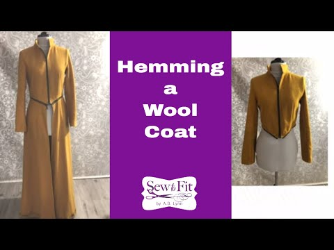 Coats: How to sew a Coat hem: Sewing Tutorial
