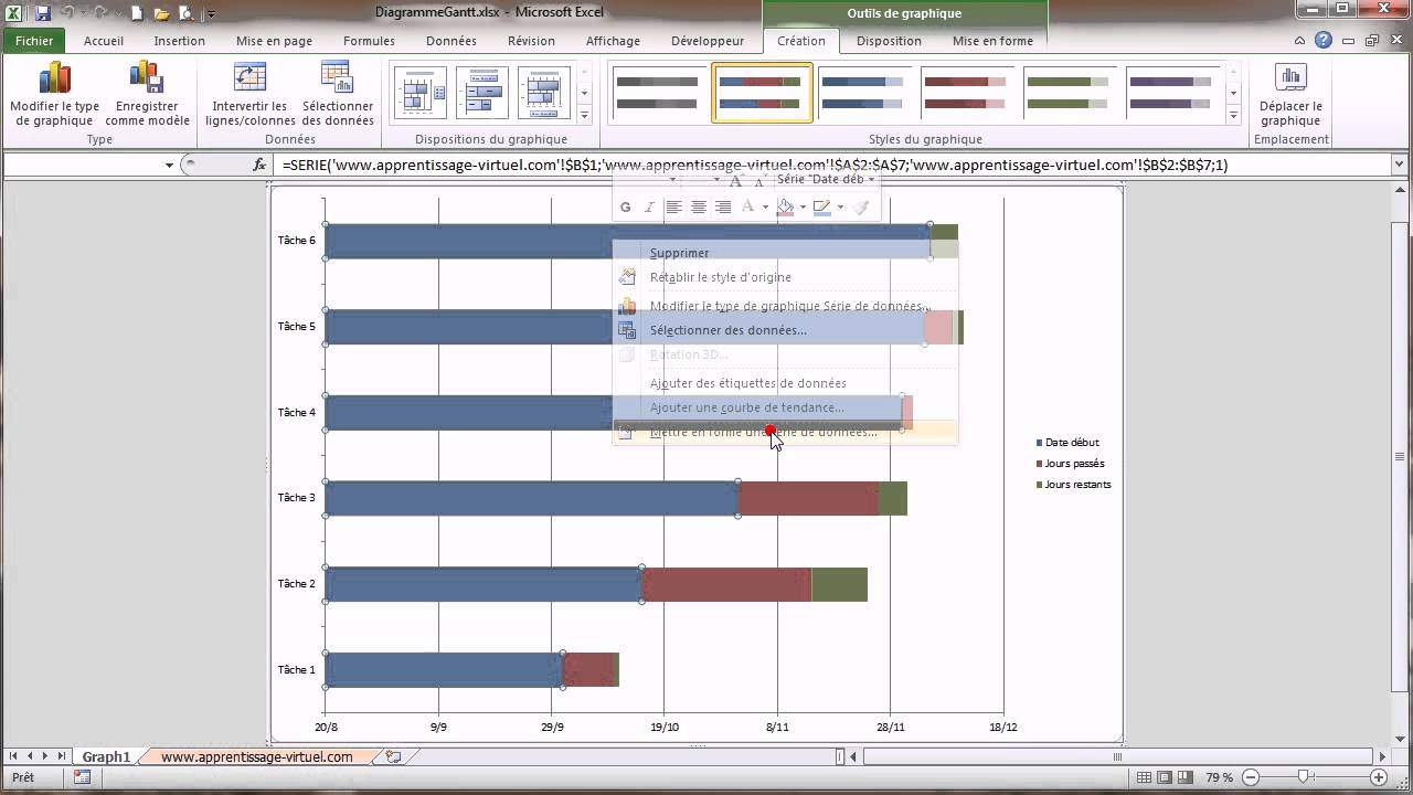 Excel diagramme de gantt youtube ccuart Image collections