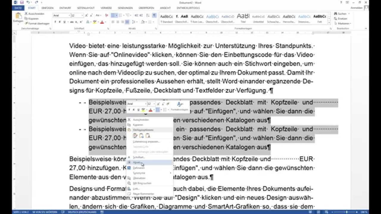 Microsoft Office WORD Tipps und Tricks für besseres Arbeiten HD, Tutorial,  Anleitung, Deutsch