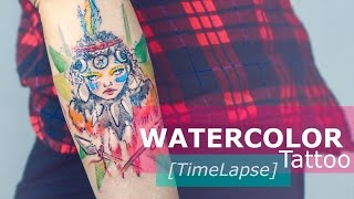 Video WATERCOLOR TATTOO Step by Step TIMELAPSE by Candelaria Carballo download MP3, 3GP, MP4, WEBM, AVI, FLV Agustus 2018