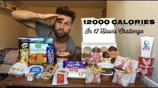 12000 Calories Challenge In 12 Hours - Italiano Cheat Day (ENG SUB)
