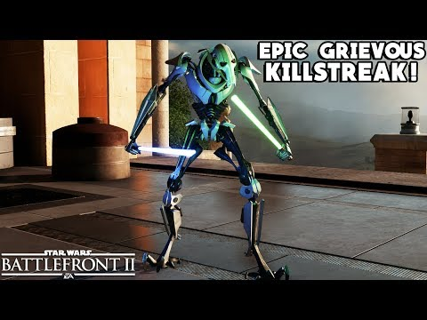 Star Wars Battlefront 2 - General Grievous EPIC Hero Killstreak! Clone Wars DLC Gameplay