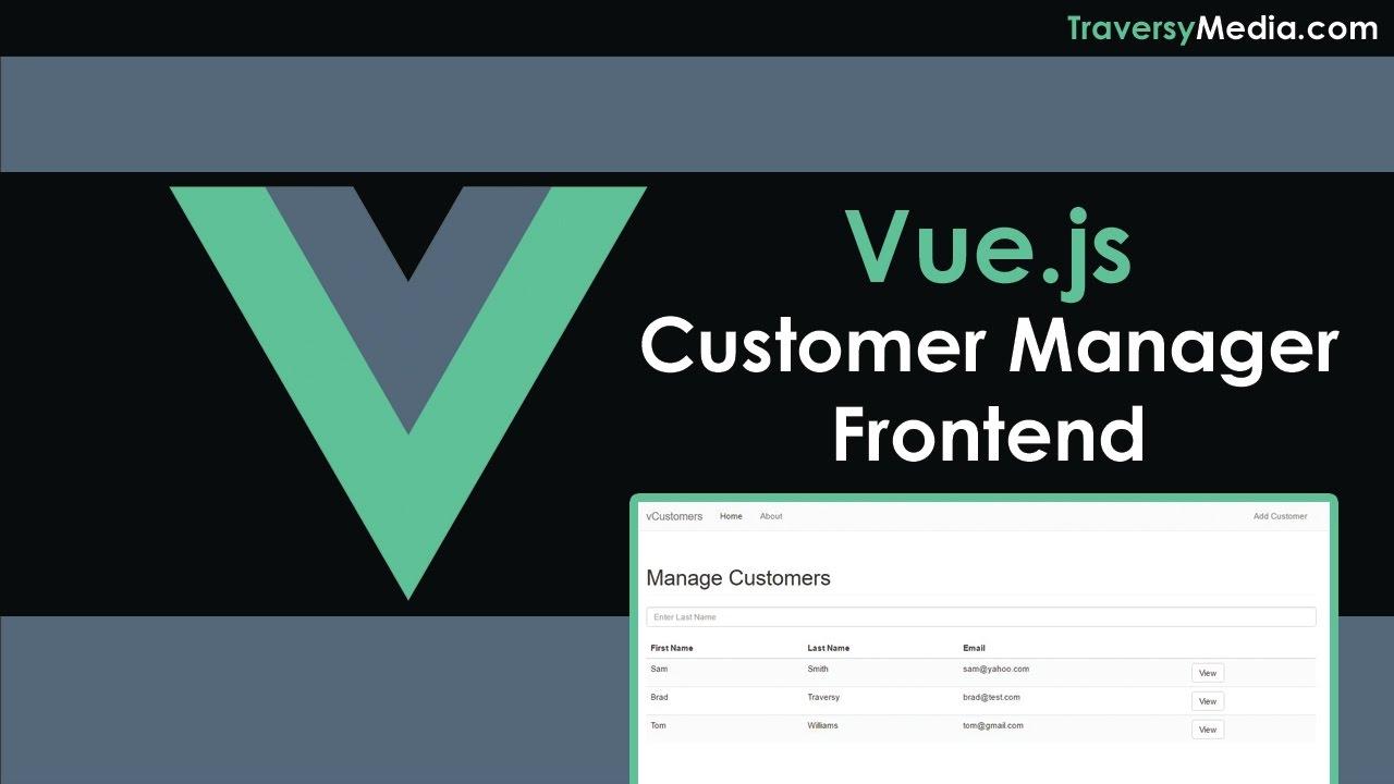 Vue js Customer Manager App Frontend