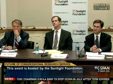 "CSPAN - Advisory Committee on Transparency ""The Future of CRS"" - 5-9-11"