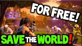 FORTNITE - FREE SAVE THE WORLD! - RELEASE DATE! + (Save the world Explained)