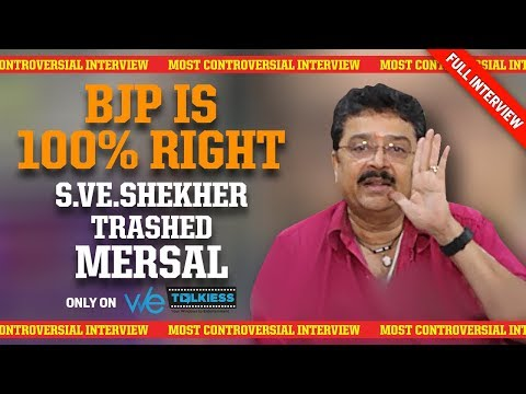 EXCLUSIVE: BJP is 100% Right about Mersal -S.V Sekar Bold Interview | Vijay | Atlee