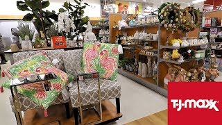 TJ MAXX SPRING 2019 AND EASTER DECOR - HOME DECOR SHOP WITH ME SHOPPING STORE WALK THROUGH 4K