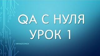 Урок 1: Введение в Тестирование ПО - QA с Нуля - Введение
