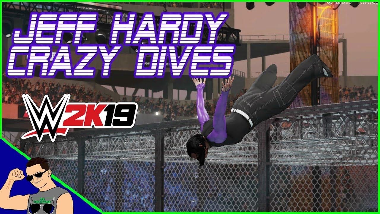 WWE 2K19 JEFF HARDY'S CRAZY DIVES ! (WWE 2K19 Gameplay)