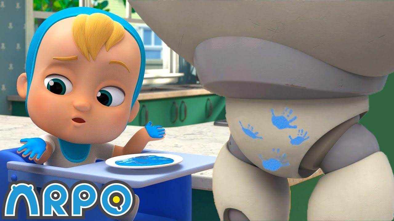 BABY'S PAINTING CLASS!!!   Season 3 Compilation   Robot Kids Cartoons   Arpo the Robot