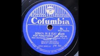 Szymon Goldberg &  Lili Kraus - Mozart : Violin Sonata  #26 K.378 - 1st Mvt (1937)