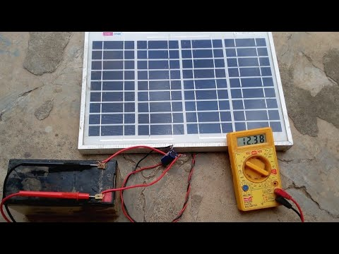 Charge 12 Volt Battery By Solar Panel Solar Panel Battery Charger Battery Charger Make Charger Youtube