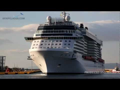 Celebrity Reflection -  Arrival at Piraeus Port HD video