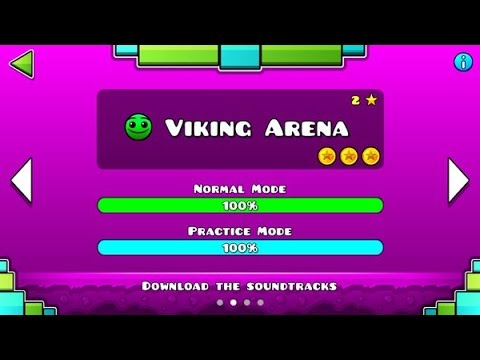 "Geometry Dash Meltdown: ""Viking Arena"" 100% Complete [All Coins] - GuitarHeroStyles"