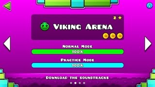 geometry-dash-meltdown-viking-arena-100-complete-all-coins-guitarherostyles