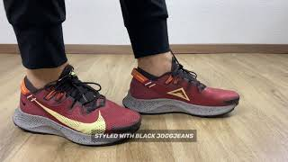 Nike Pegasus TRAIL 2 `Claystone Red/Life Lime-Velvet brown`| ON FEET 2 STYLES | running shoes | 2021