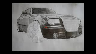 Drawing chrysler 300c / Autozeichnung (www.autozeichner.com)