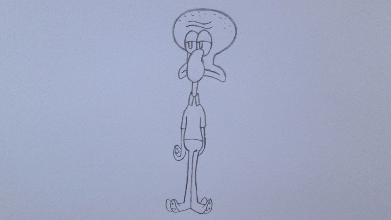 como desenhar o lula molusco de bob esponja um herói foda d Água 3d