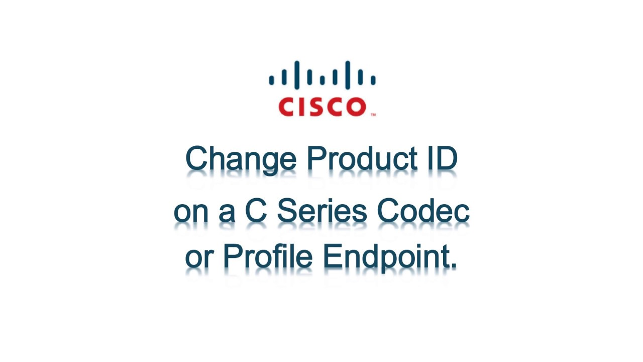 Install or Change Product ID License on a C Series Codec or Profile